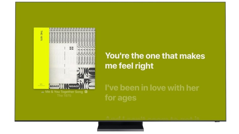 三星智能电视现在可以更轻松地与Apple Music一起唱歌