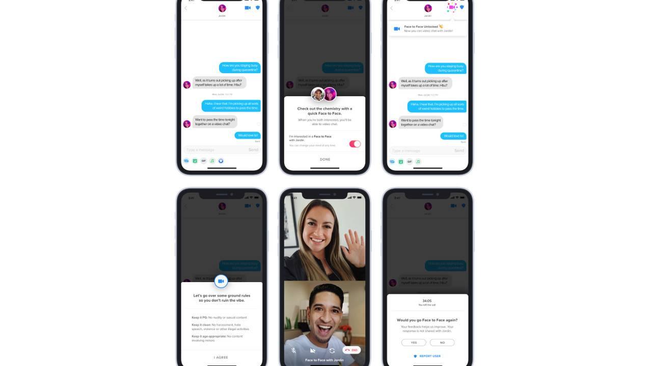 Tinder面对面的视频聊天可帮助您在锁定中获得喜爱