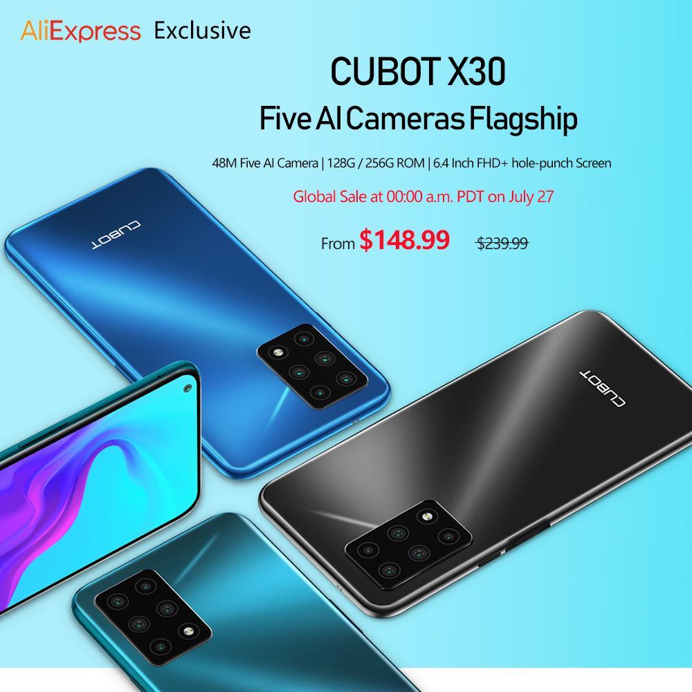 Cubot X30推出48MP五镜头相机和128GB存储,售价148.99美元