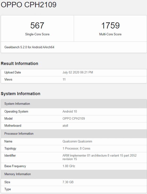 Oppo Reno 4 Pro印度/全球版本将配备Snapdragon 720G
