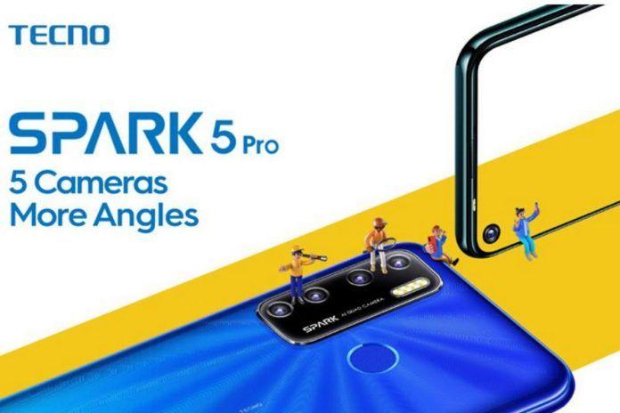 带有5000mAh电池的Tecno Spark 5 Pro,打孔显示器将于7月13日在印度通过亚马逊推出