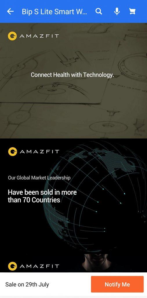 Amazfit Bip S Lite于7月26日在印度推出,价格更便宜