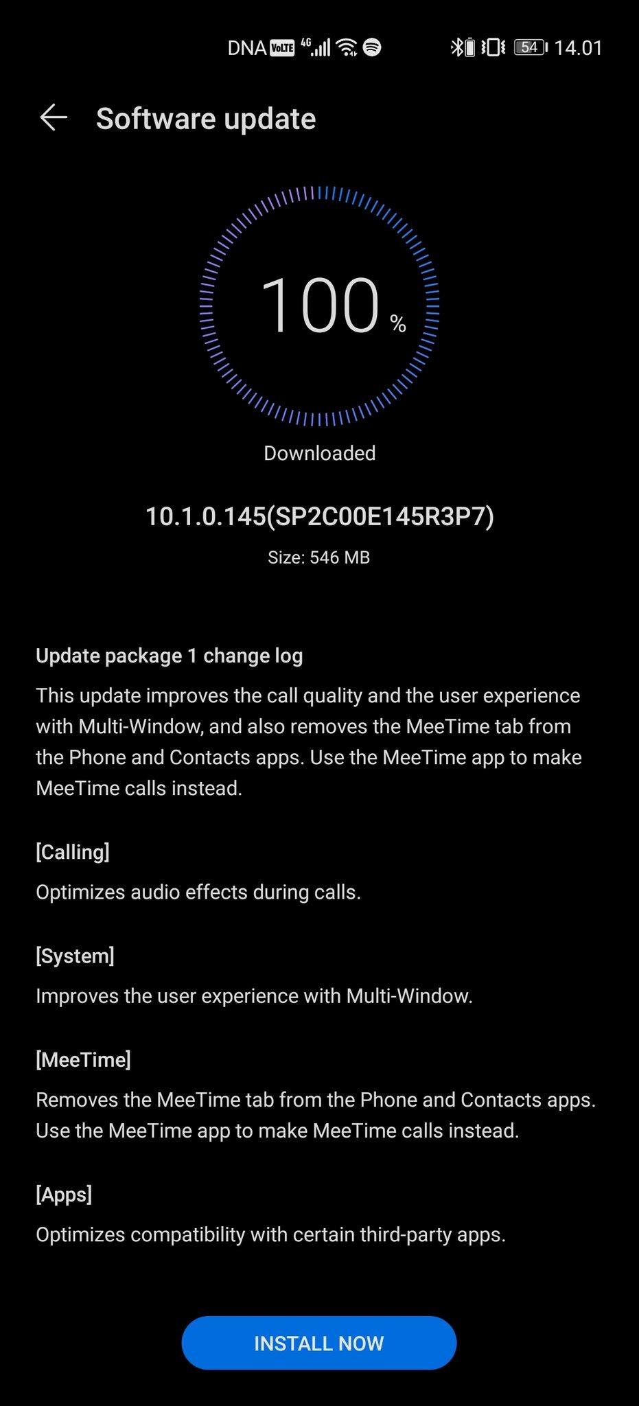 适用于华为P40 Pro Plus的EMUI 10.1.0.145可优化通话音频质量,改善多窗口功能等