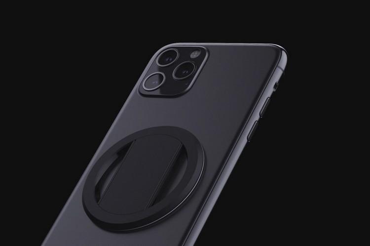 """Ohsnap握把""是一款只有3毫米厚的超薄电话握把"