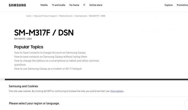 三星Galaxy M31s出现在Google Play控制台上,确认了Exynos 9611