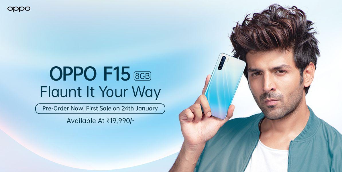 OPPO F15在印度获得了新的4GB + 128GB版本,价格为16990卢比(〜228美元)