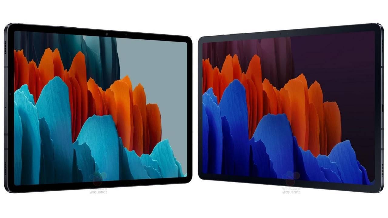 Galaxy Tab S7和S7 +泄漏不出所料