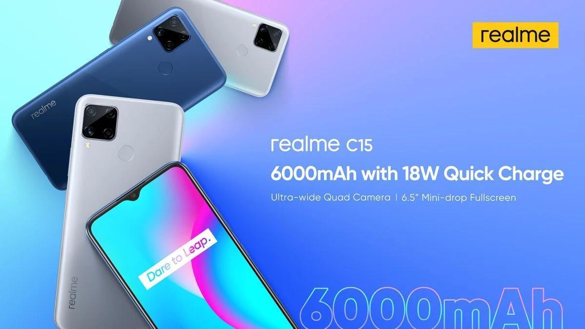 配备13MP四摄像头,6,000mAh电池和18W快速充电的Realme C15首次亮相,价格约为137美元