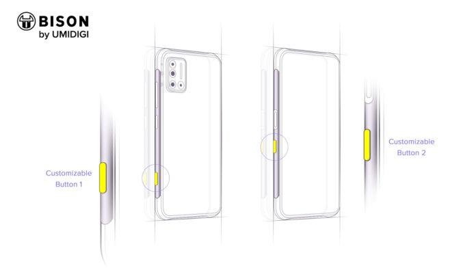 Umidigi Bison坚固的智能手机出现在新的渲染图中,于8月17日发布