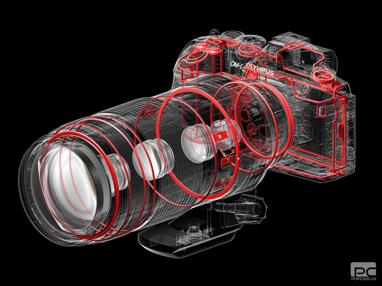 奥林巴斯M.Zuiko  100-400mm  F5.0-6.3 IS镜头放大了重要的部分