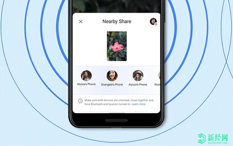 "Google邻近共享成功打响手机:Android版"" AirDrop"""