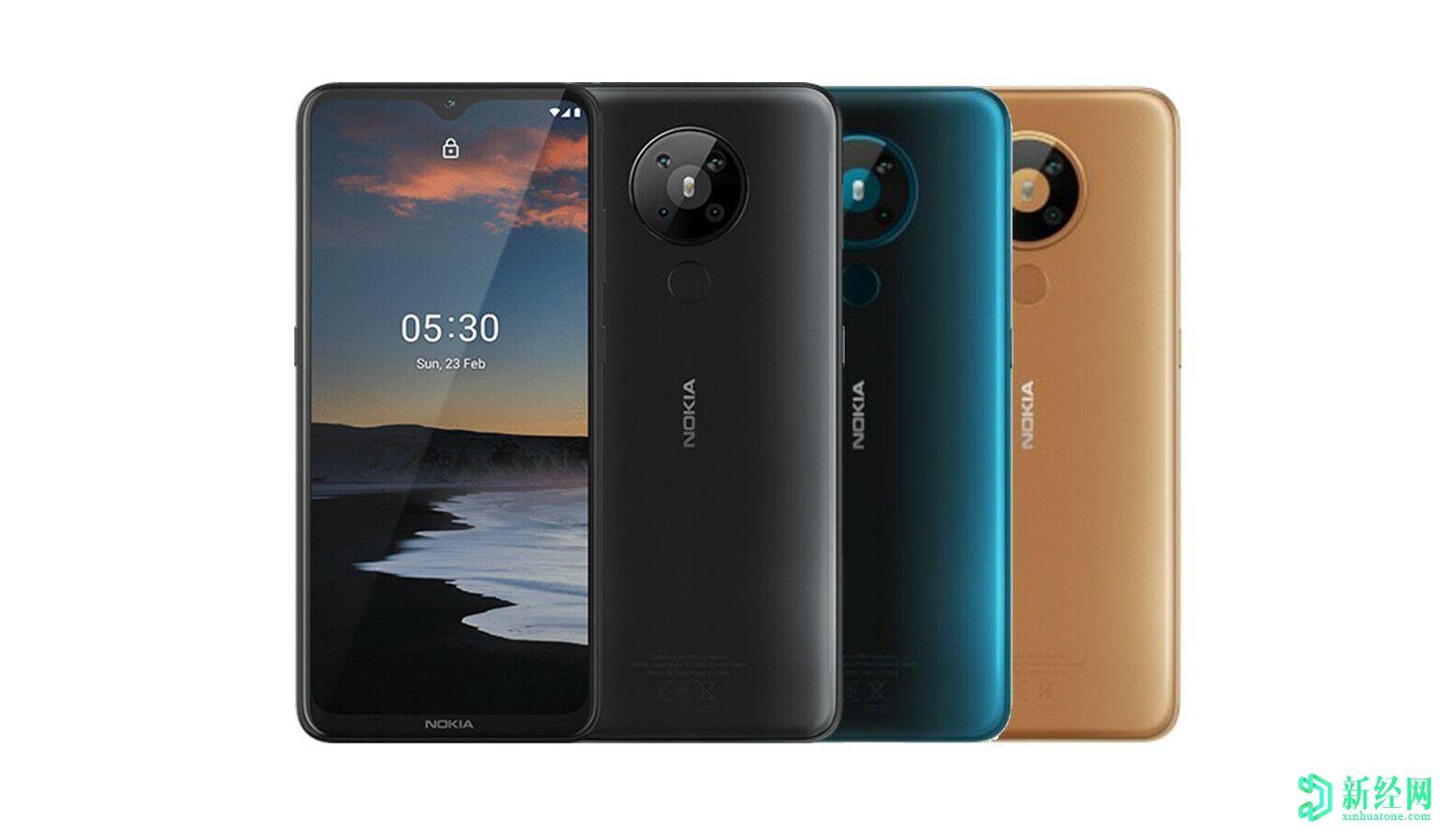 诺基亚5.3以及其他价格实惠的手机可能会在本月推出