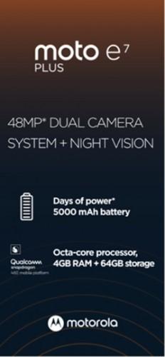 摩托罗拉 Moto E7 Plus将配备Snapdragon 460、4GB RAM和48MP双后置摄像头