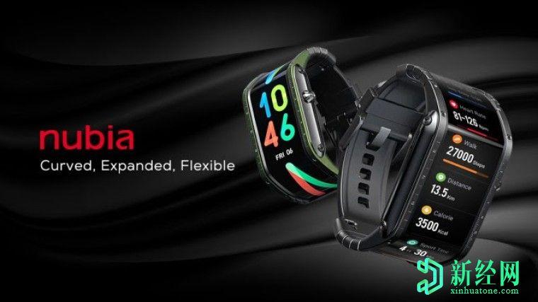 针对努比亚手表推出Kickstarter广告系列,采用柔性AMOLED显示屏