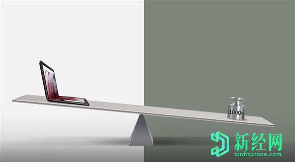 联想ThinkPad X1 Fold在新视频中被嘲笑,重量不到1千克