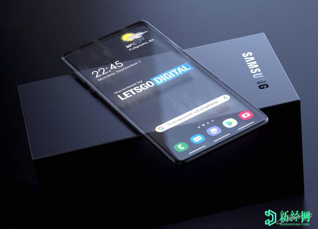 三星为具有透明显示屏的Galaxy智能手机申请专利