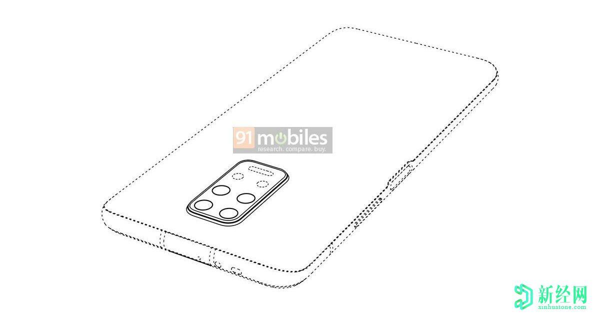 华为设计专利显示了类似Redmi Note 9的后置摄像头布局
