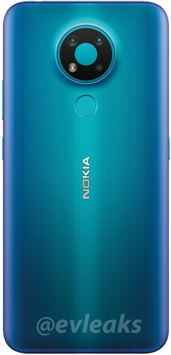 诺基亚3.4在新渲染中以蓝色显示