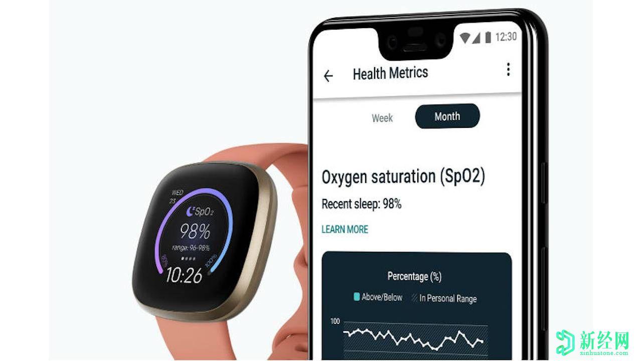 Fitbit  SpO2表盘使追踪血液氧合更加容易