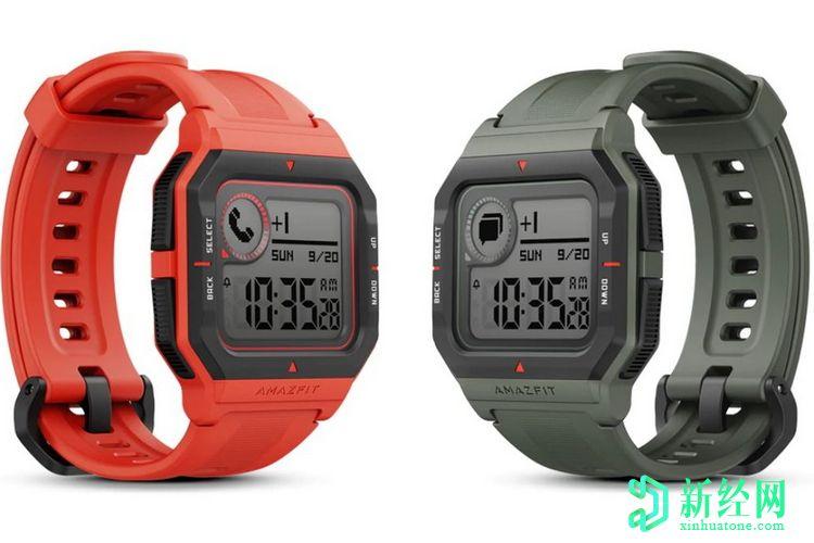 花蜜在中国推出具有复古设计的Amazfit Neo Smartwatch