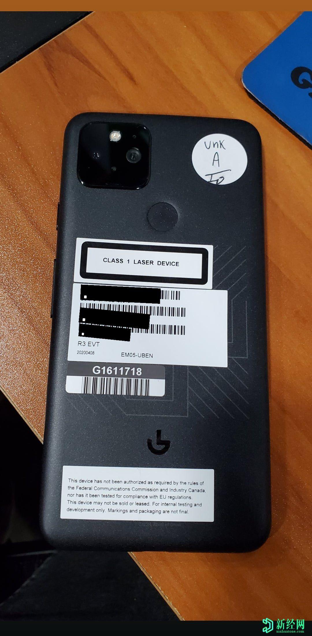 泄漏的谷歌 Pixel 5实景照片揭示了设计和Pixel 5s的绰号