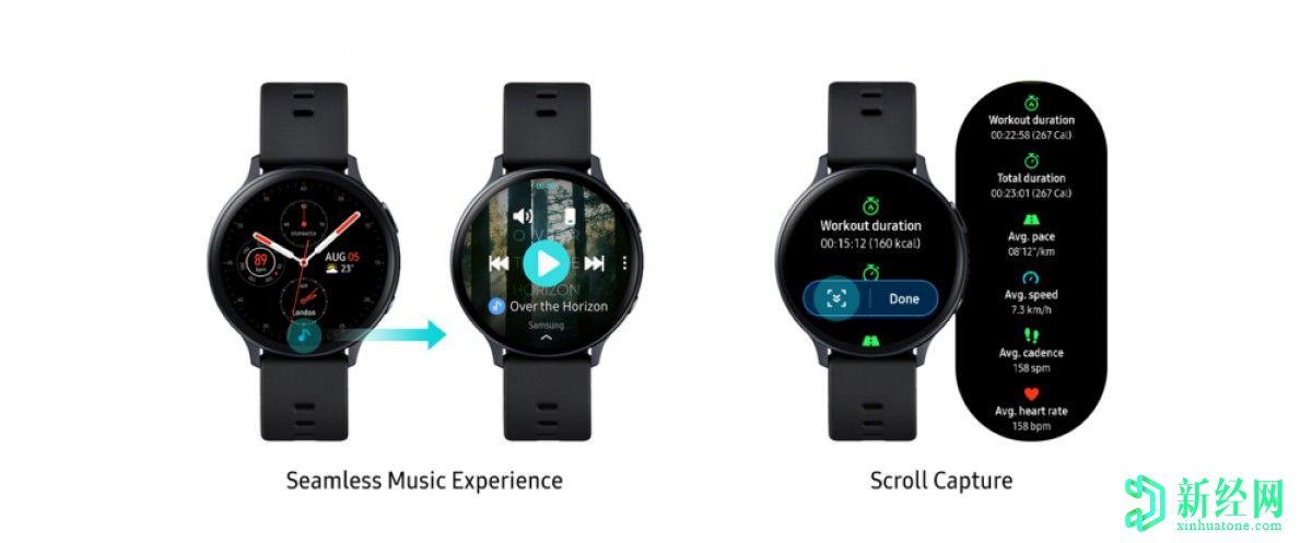 三星Galaxy Watch Active2获得VO2 max测量值,通过最新更新进行智能回复