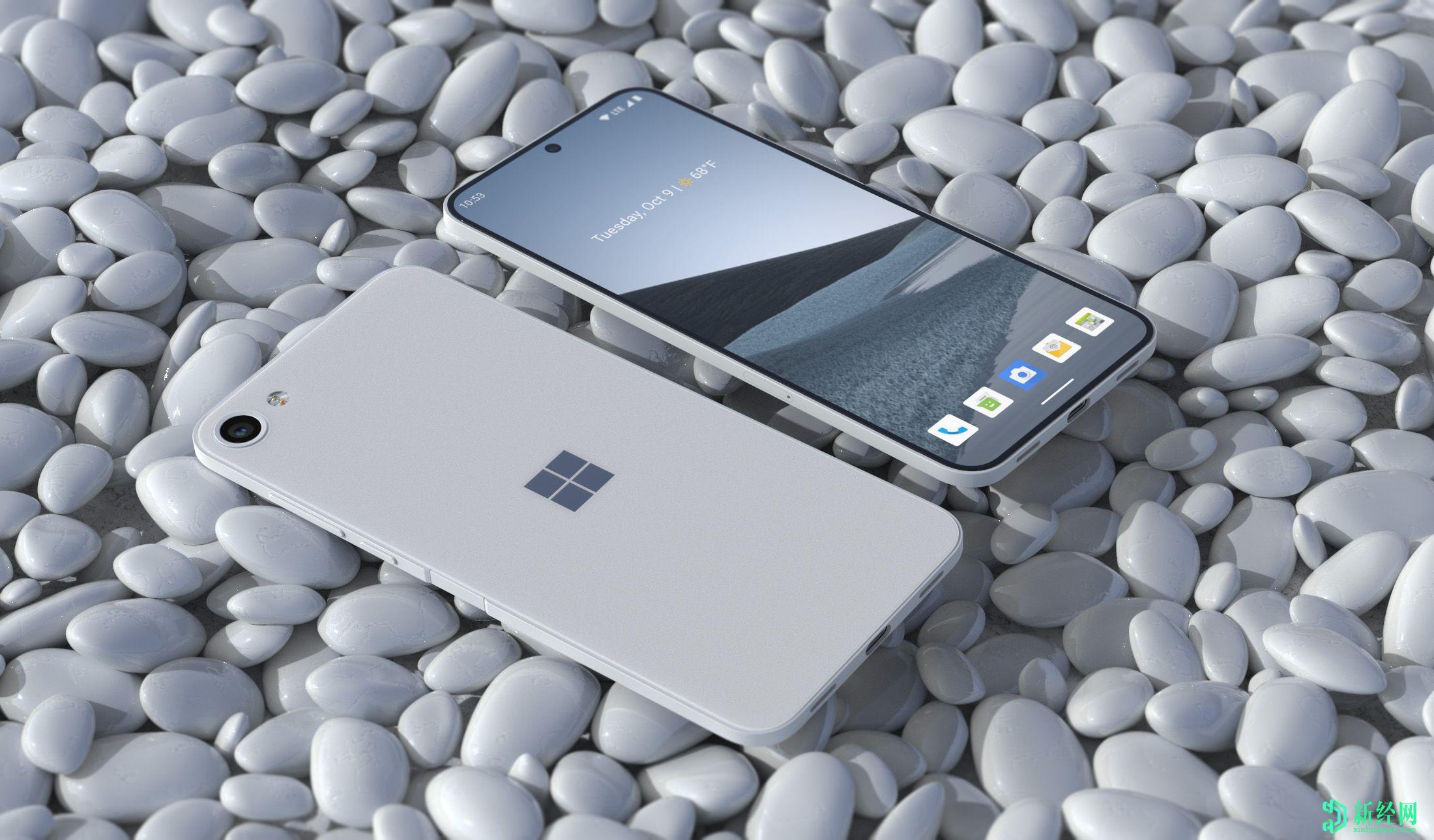 微软Surface Solo概念渲染展示了智能手机设计
