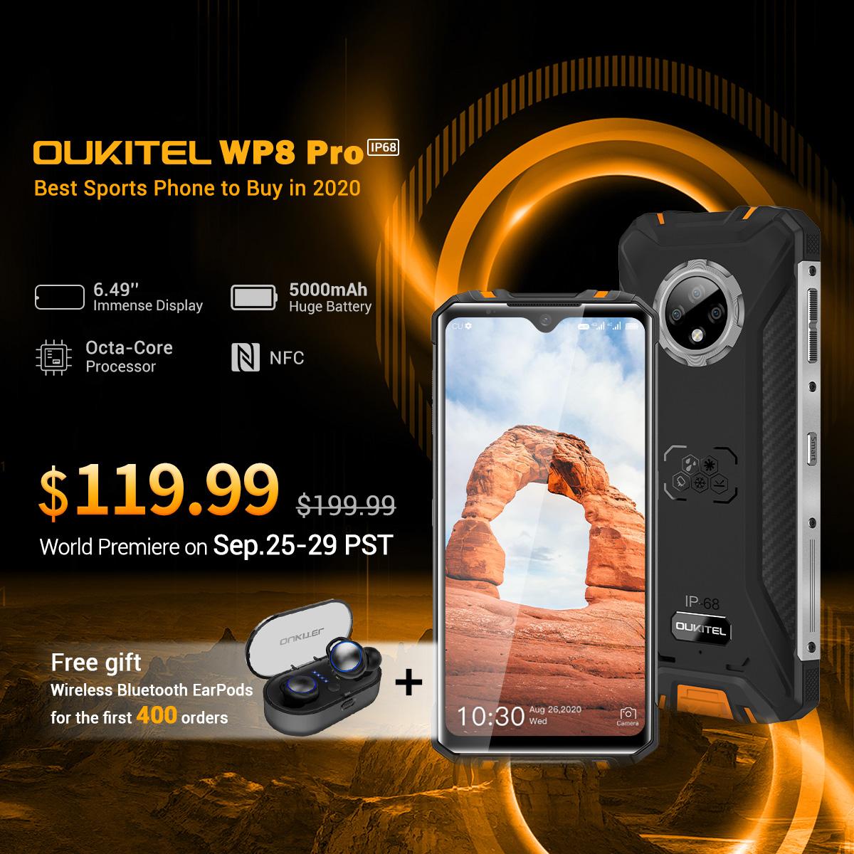 Oukitel的新型WP8 Pro Rugged手机价格便宜,专为具有IP69K认证的户外爱好者打造