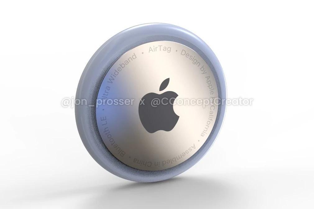 这是苹果的AirTags跟踪标签的外观