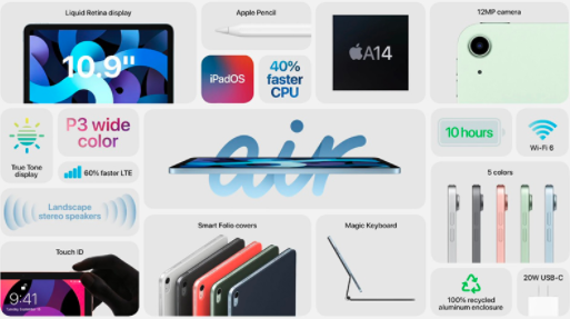 苹果发布第8代iPad和第4代iPad Air
