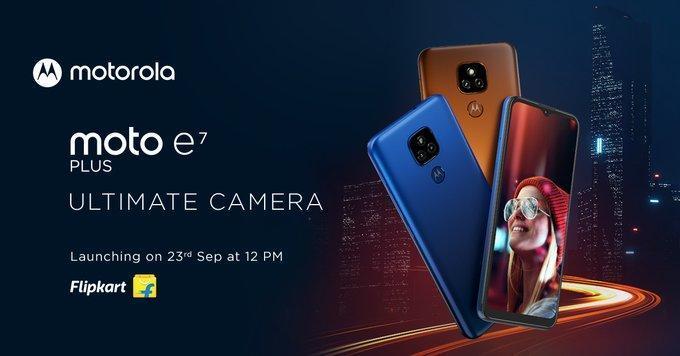 摩托罗拉E7 Plus于9月23日在印度推出