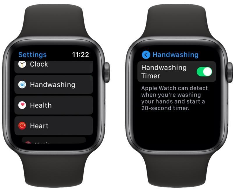 如何在watchOS 7中的Apple Watch上启用洗手计时器