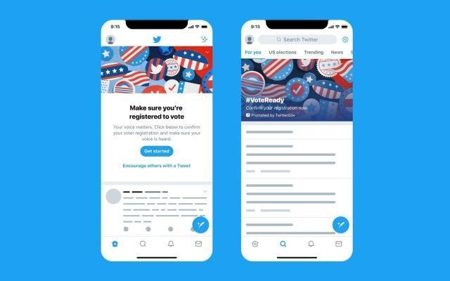 "Twitter做出了""有史以来最大的推动""以鼓励美国选民登记"