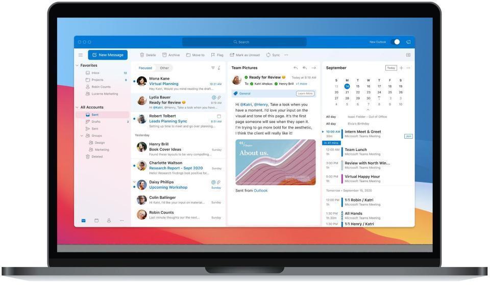 微软为Mac版Outlook改造了Big Sur