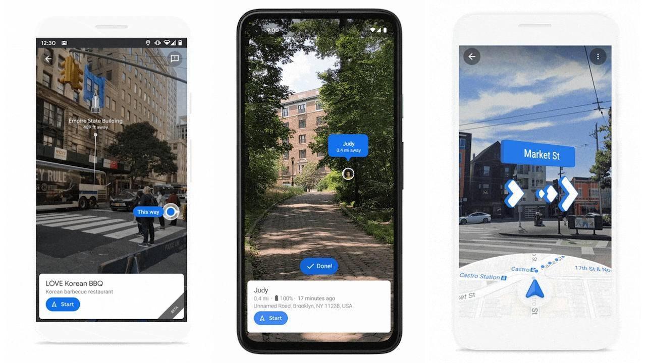 Google地图Live View即将显示地标,在移动设备上共享位置
