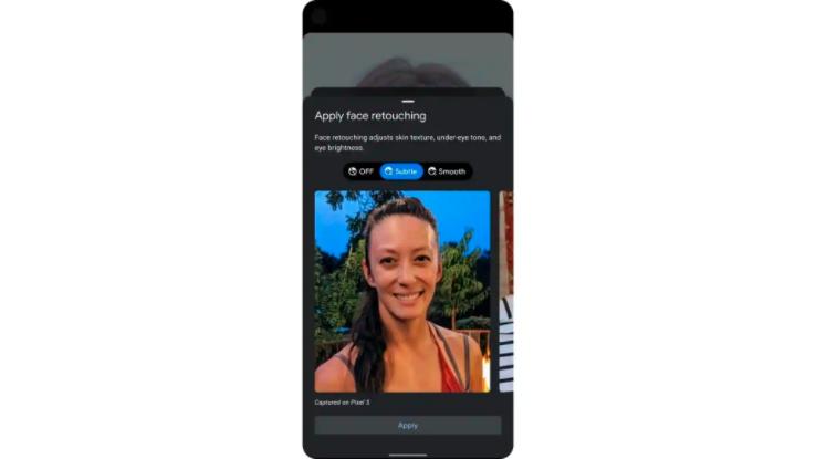 Google将默认关闭Pixel 5,Pixel 4a上的脸部修饰效果