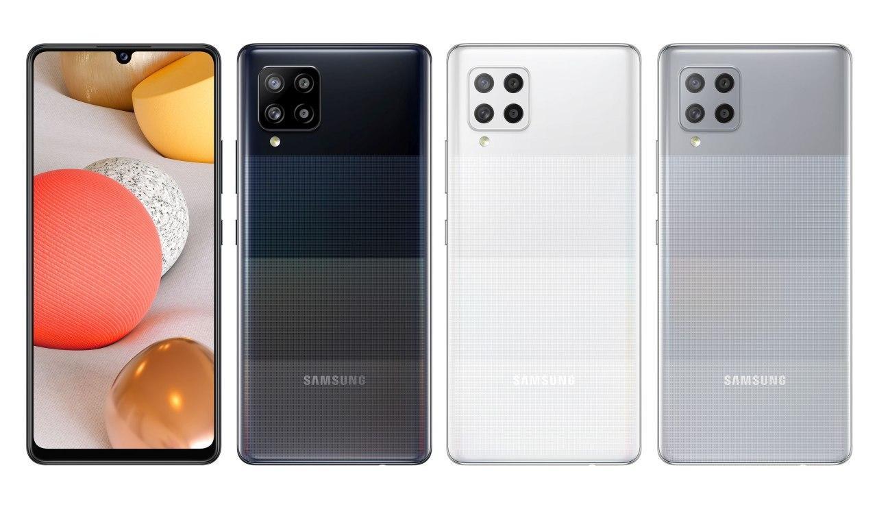 三星Galaxy A42 5G官方渲染图展示其颜色变化