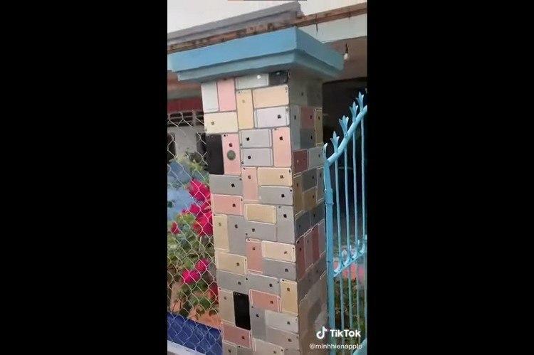 """越南男子为其房屋建造疯狂的""""iPhone围栏"""""""