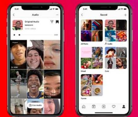 Instagram Reels现在可以让您查找视频的音频