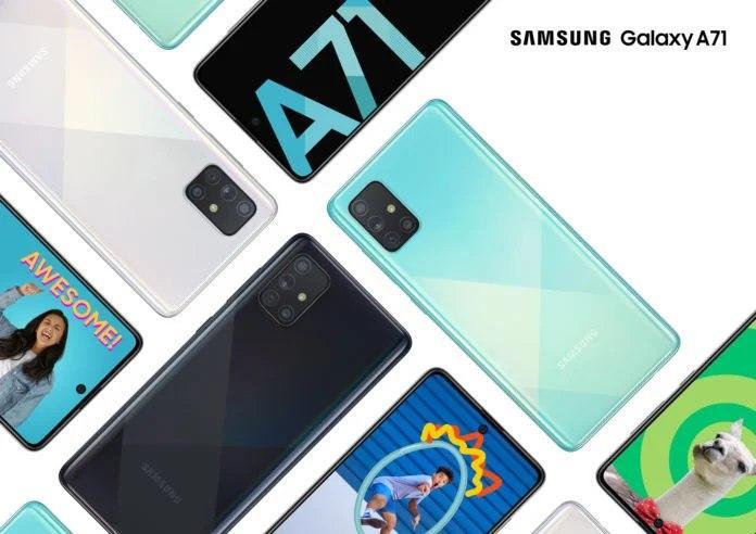 三星为Galaxy A71推出了一个UI 2.5更新