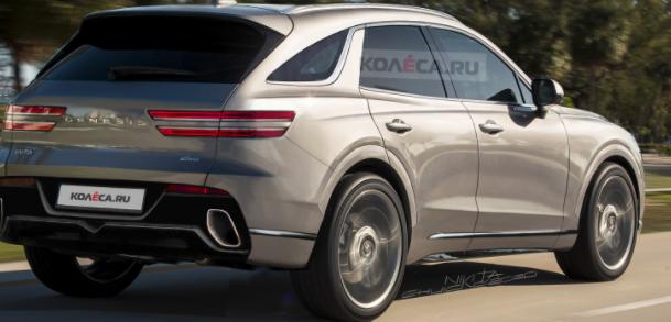 2022年创世纪GV70 SUV在精确渲染中看起来真实