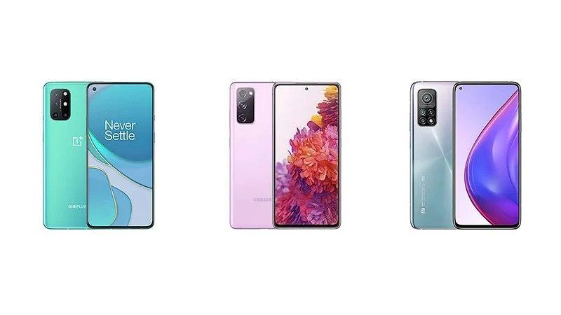 一加8T对比三星Galaxy S20 FE对比小米10T Pro:规格对比