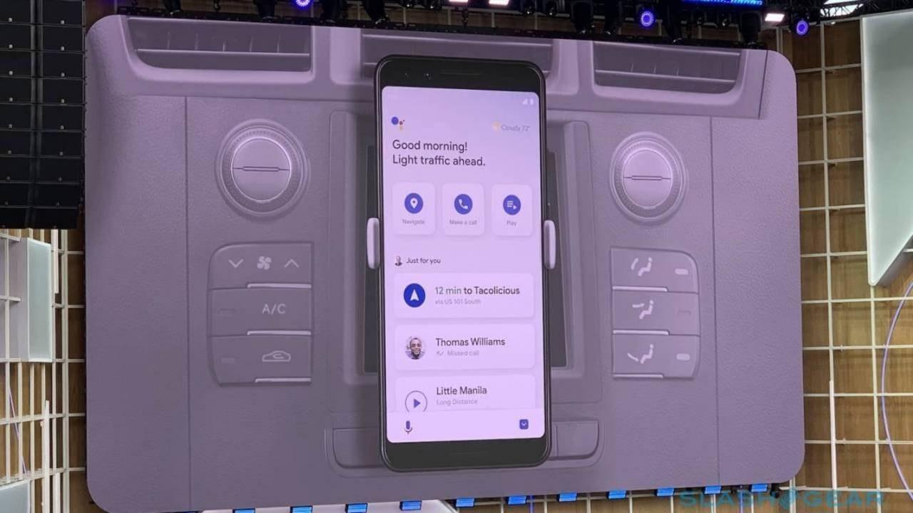 Google助手驾驶模式向某些用户显示,但看起来有所不同