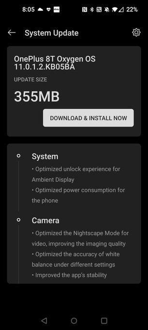 第一个OnePlus 8T更新带来了Canvas功能和许多优化