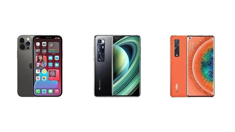 iPhone 12 Pro与小米Mi 10 Ultra和OPPO Find X2 Pro:规格对比