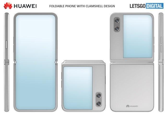 华为获得翻盖式可折叠智能手机设计的专利,并具有更大的外壳显示屏