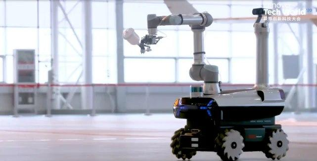 联想首款自主研发的晨星工业机器人揭幕