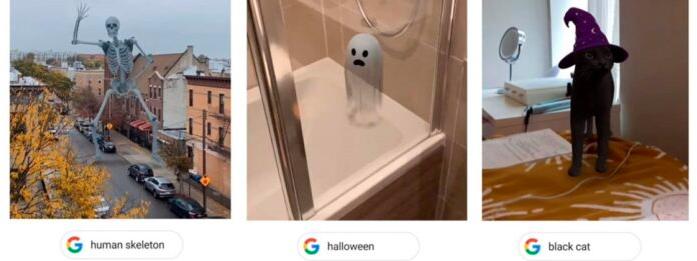 谷歌决定用其搜索引擎的增强现实功能庆祝万圣�