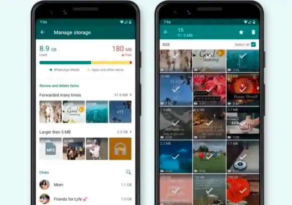 WhatsApp启动新的存储管理工具