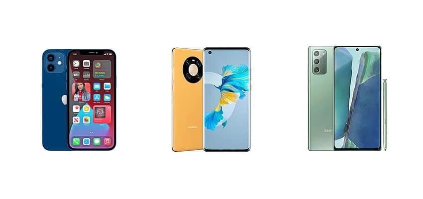 苹果iPhone 12与华为Mate 40 和三星Galaxy Note 20:规格对比